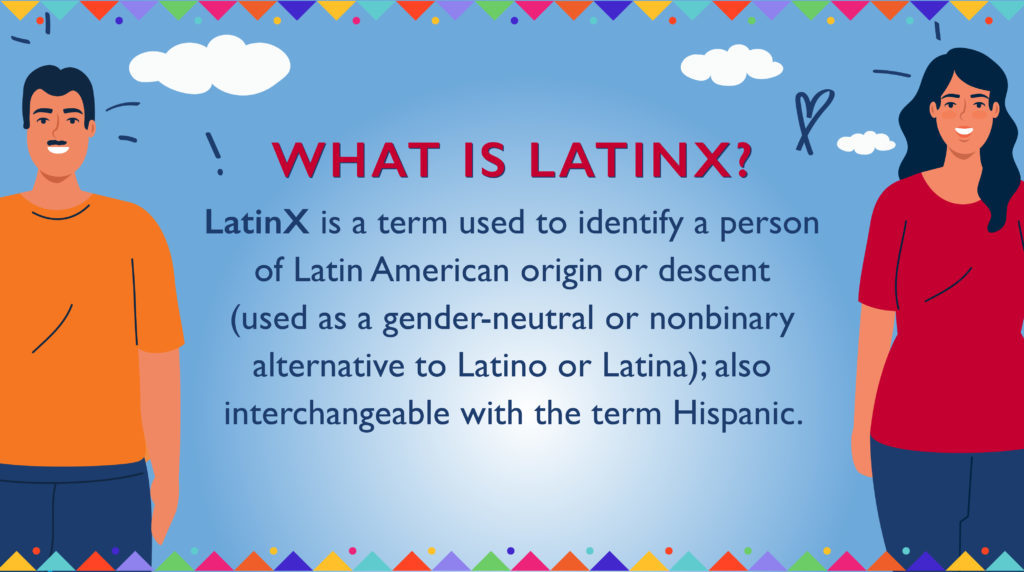 graphic with definition of latinx